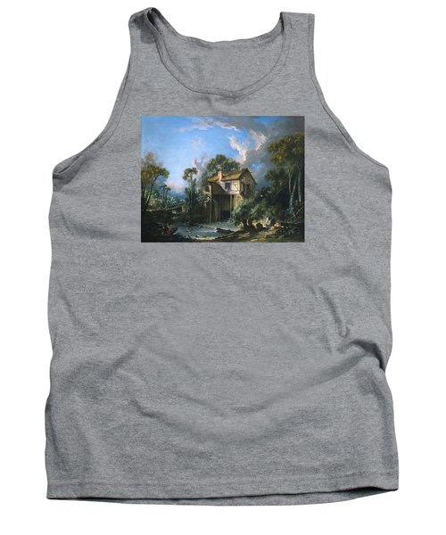 Mill At Charenton Tank Top by Francois Boucher