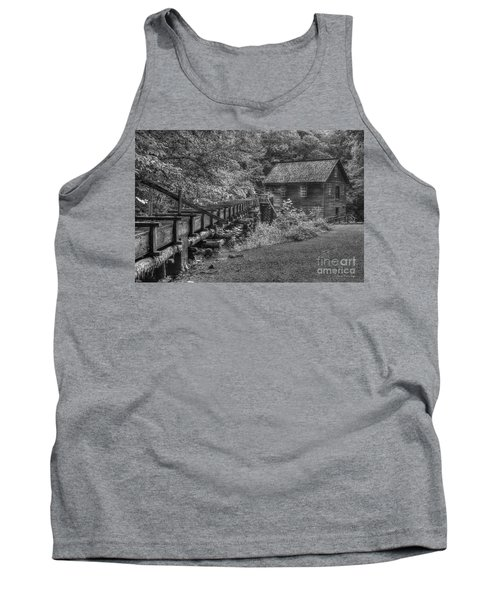 Tank Top featuring the photograph Mingus Mill 3 Mingus Creek Great Smoky Mountains Art by Reid Callaway