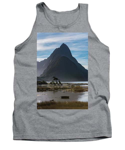 Tank Top featuring the photograph Mitre Peak / Rahotu by Gary Eason