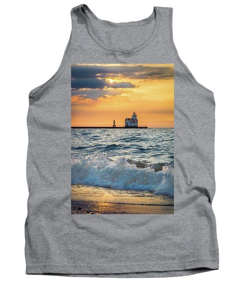 Tank Top featuring the photograph Morning Dance On The Beach by Bill Pevlor