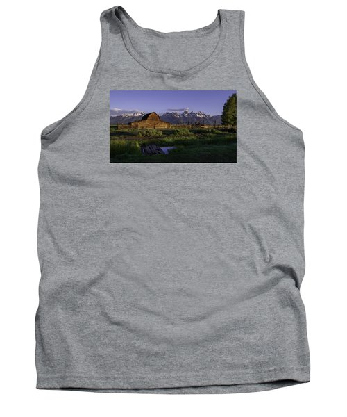 Moulton Barn At Dawn Tank Top by Mary Angelini