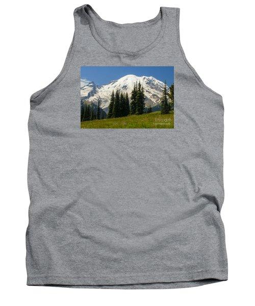 Mt. Rainier Alpine Meadow Tank Top by Chuck Flewelling