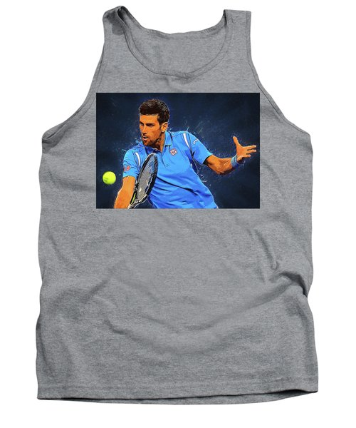Novak Djokovic Tank Top by Semih Yurdabak