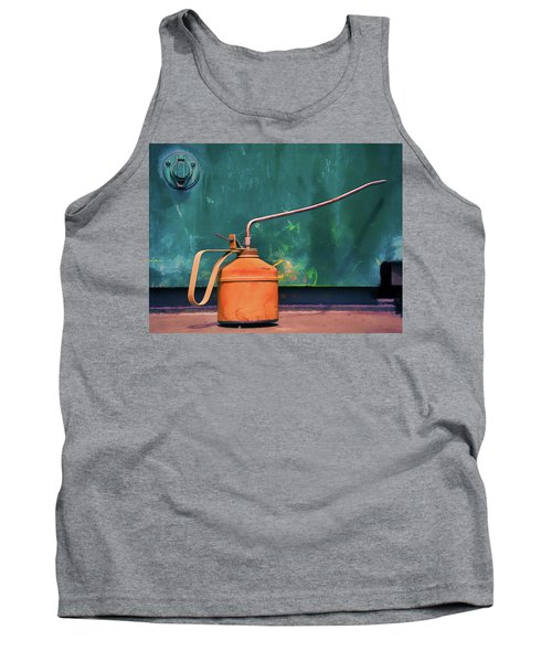 Oil Can On The Engine Tank Top by Gary Slawsky