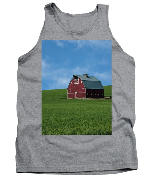 Old Red Barn In The Palouse Tank Top by James Hammond