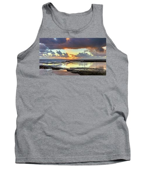 Overcast And Cloudy Sunrise Seascape Tank Top