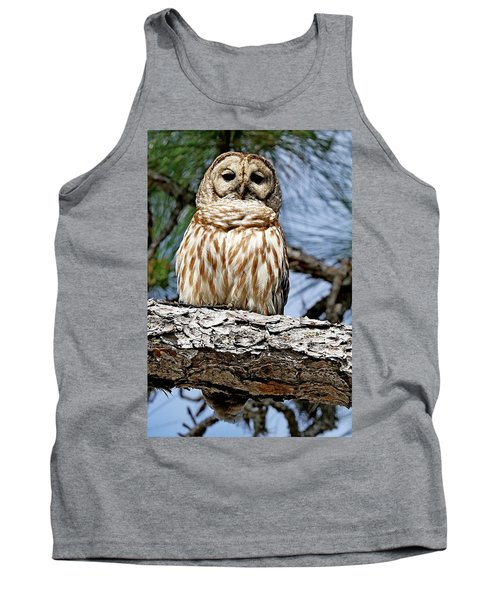 Owl In A Tree Tank Top