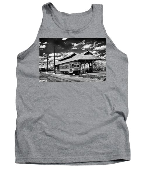 Tank Top featuring the photograph Philadelphia Trolley by Paul W Faust - Impressions of Light
