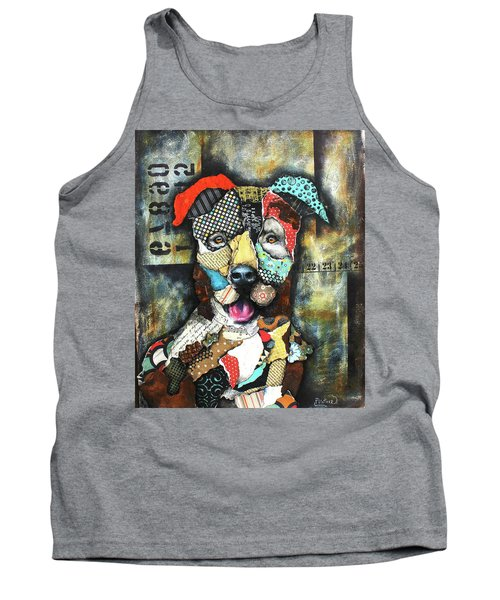 Pit Bull Tank Top by Patricia Lintner