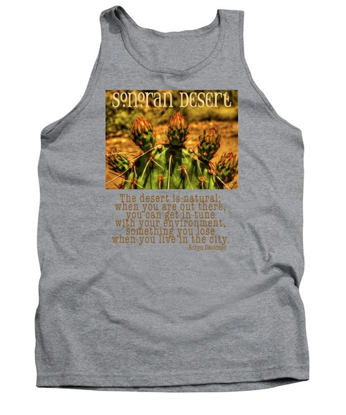 Prickly Pear Cactus Tank Top by Roger Passman