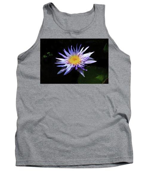 Purple Water Lily Tank Top
