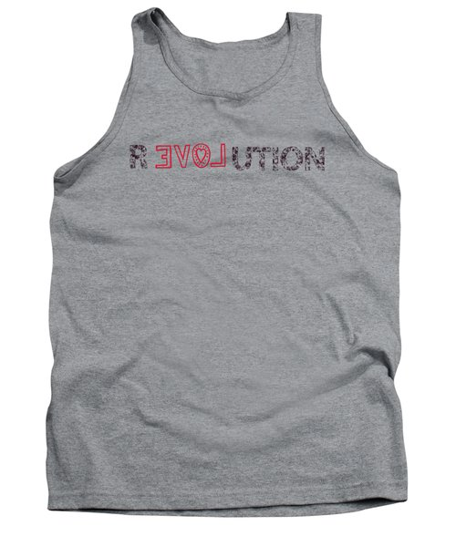 Tank Top featuring the drawing Revolution by Bill Cannon