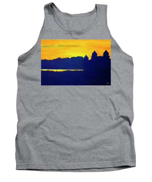 Saltair Sunset Tank Top by Jane Autry