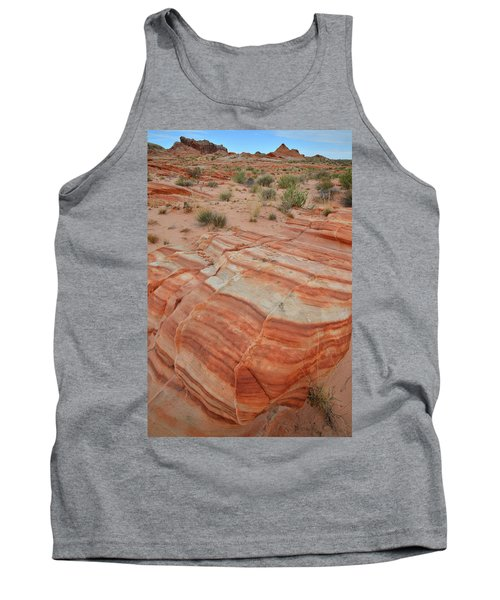 Tank Top featuring the photograph Sandstone Stripes In Valley Of Fire by Ray Mathis