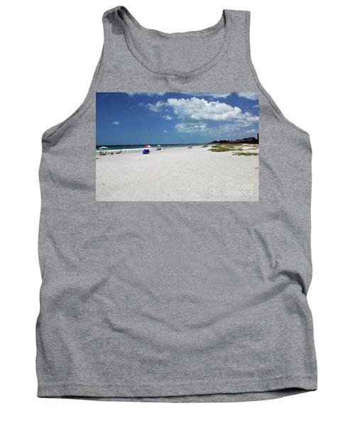 Tank Top featuring the photograph Siesta Key Beach by Gary Wonning