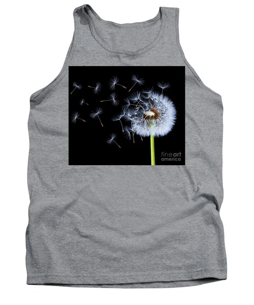 Tank Top featuring the photograph Silhouettes Of Dandelions by Bess Hamiti