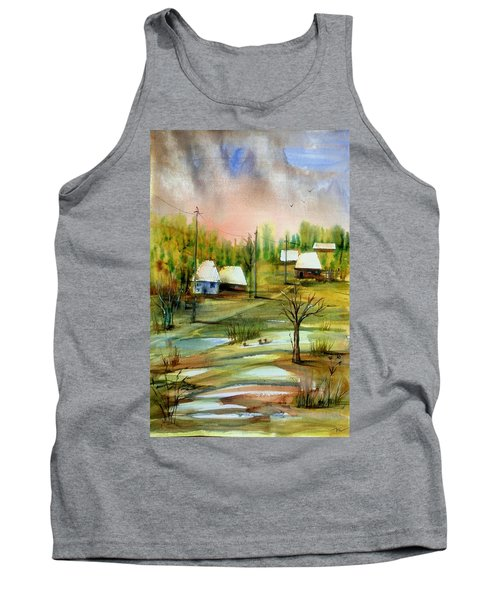 Sleepy Village Tank Top
