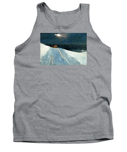 Tank Top featuring the painting Sleigh Ride by Winslow Homer
