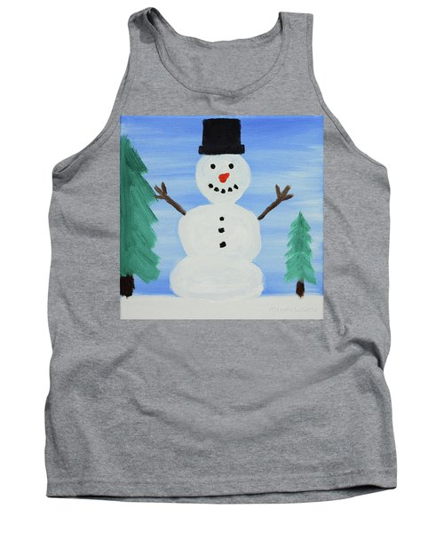 Snowman Tank Top by Anthony LaRocca