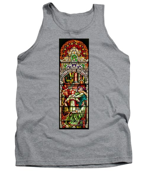 Tank Top featuring the photograph Stained Glass Scene 3 Crop by Adam Jewell