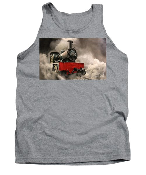 Tank Top featuring the photograph Steam Engine by Charuhas Images