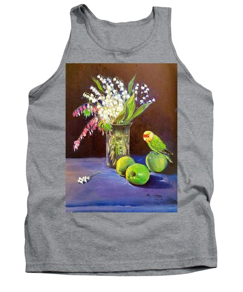 Tank Top featuring the painting Still Life by Rose Wang