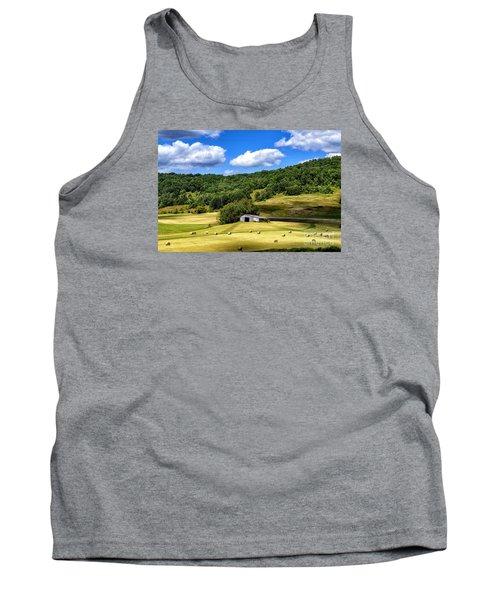 Summer Morning Hay Field Tank Top