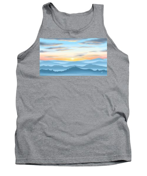 Tank Top featuring the painting Sunrise by Veronica Minozzi