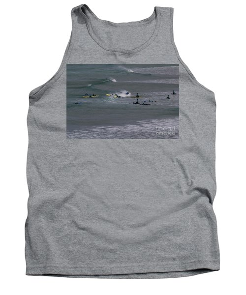 Tank Top featuring the photograph Photographs Of Cornwall Surfers At Fistral by Brian Roscorla