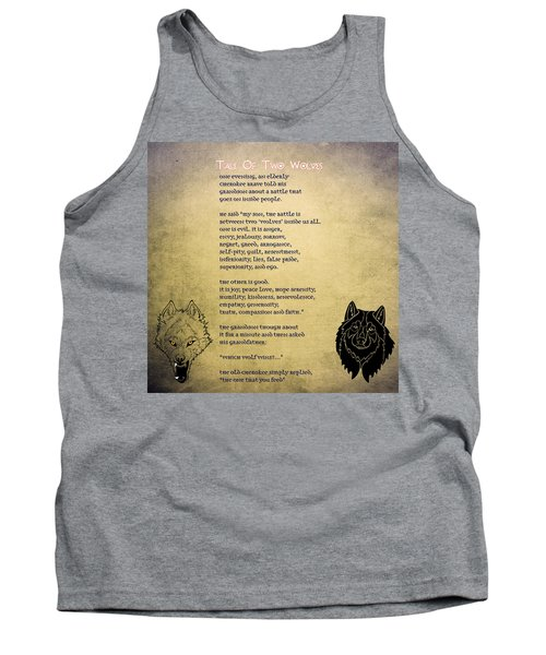 Tale Of Two Wolves - Art Of Stories Tank Top