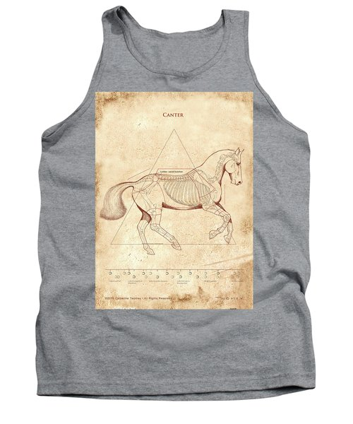 The Horse's Canter Revealed Tank Top by Catherine Twomey