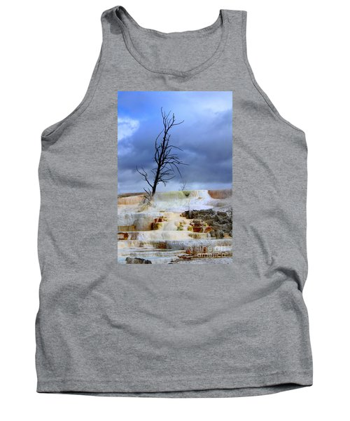 Tank Top featuring the photograph Travertine Terraces by Irina Hays