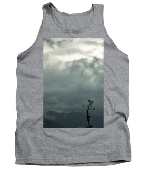 Tree And Mountain  Tank Top by Rajiv Chopra