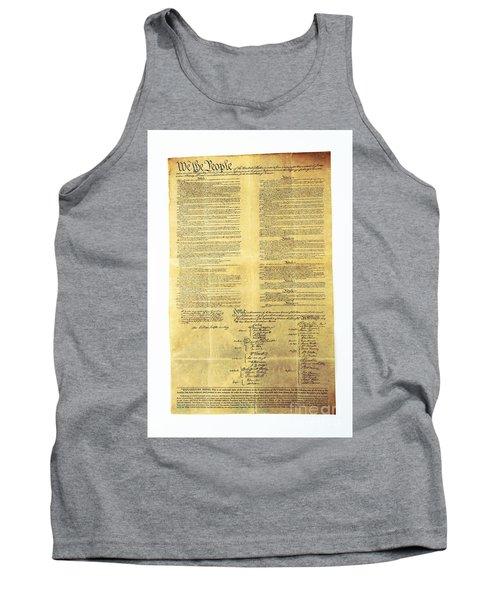 U.s Constitution Tank Top