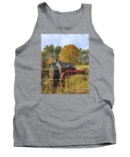 Tank Top featuring the photograph Vermont Grist Mill by Edward Fielding