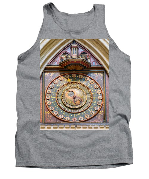 Tank Top featuring the photograph Wells Cathedral Clock by Colin Rayner