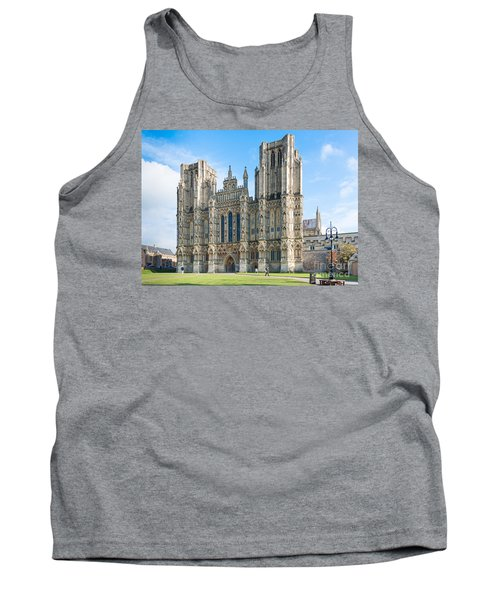Tank Top featuring the photograph Wells Cathedral by Colin Rayner