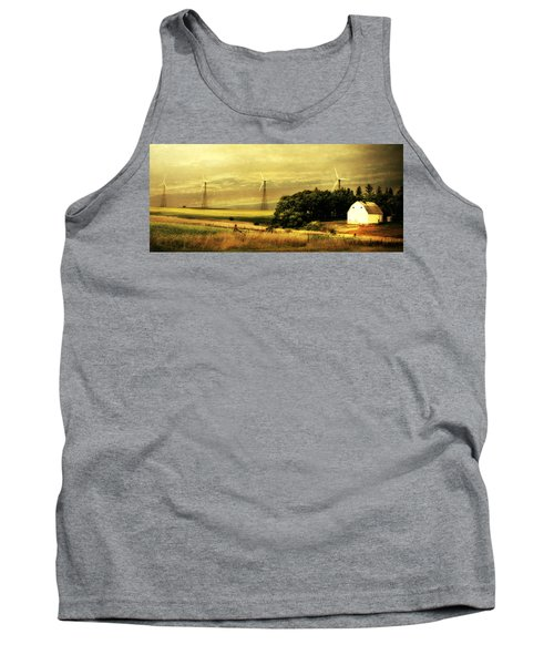 Tank Top featuring the photograph Wind Turbines by Julie Hamilton