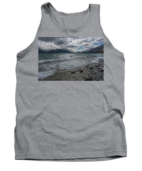 Tank Top featuring the photograph Windy Day On Lake Wakatipu by Gary Eason