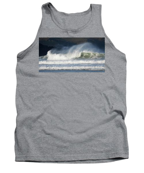 Tank Top featuring the photograph Windy Seas In Cornwall by Nicholas Burningham