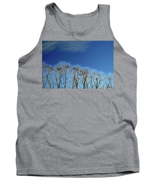 Winter Trees And Sky 3  Tank Top by Lyle Crump