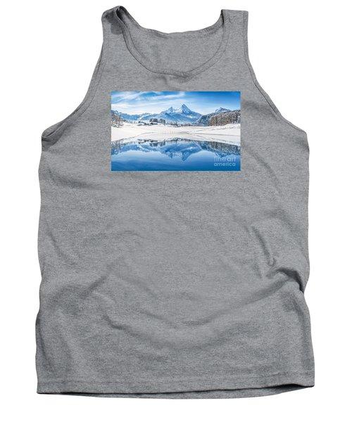 Winter Wonderland In The Alps Tank Top