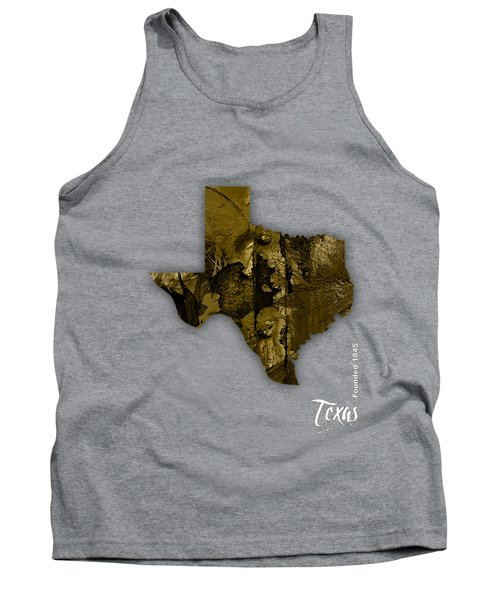 Texas State Map Collection Tank Top by Marvin Blaine