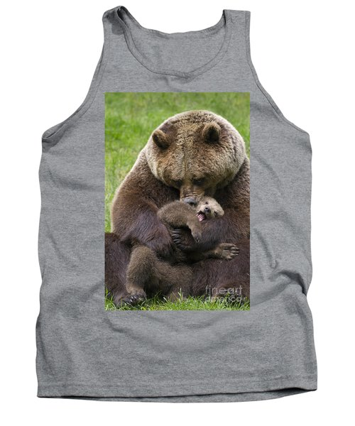 Mother Bear Cuddling Cub Tank Top