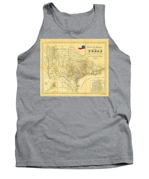 1849 Texas Map Tank Top