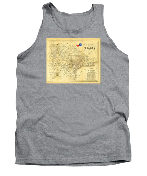 1849 Texas Map Tank Top
