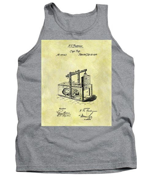 Tank Top featuring the mixed media 1870 Mousetrap Patent by Dan Sproul