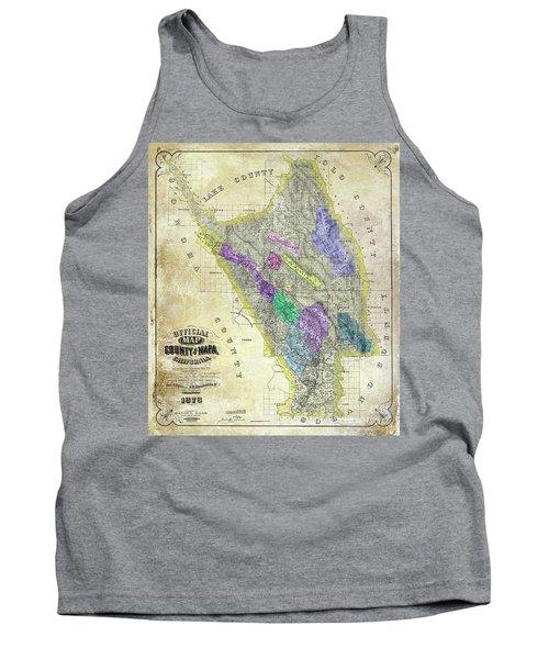 1876 Napa Valley Map Tank Top
