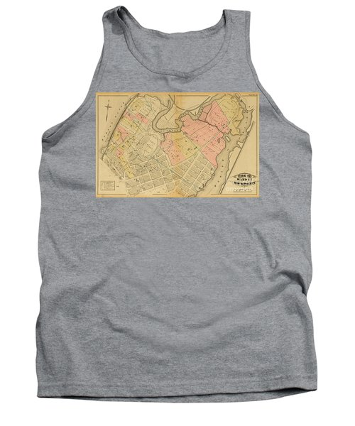 1879 Inwood Map  Tank Top by Cole Thompson