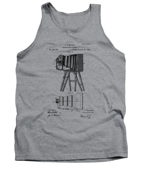1885 View Camera Patent  Tank Top by Barry Jones
